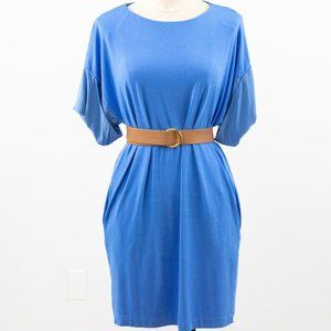 COS S Silk Modal T-Shirt Dress Periwinkle Blue
